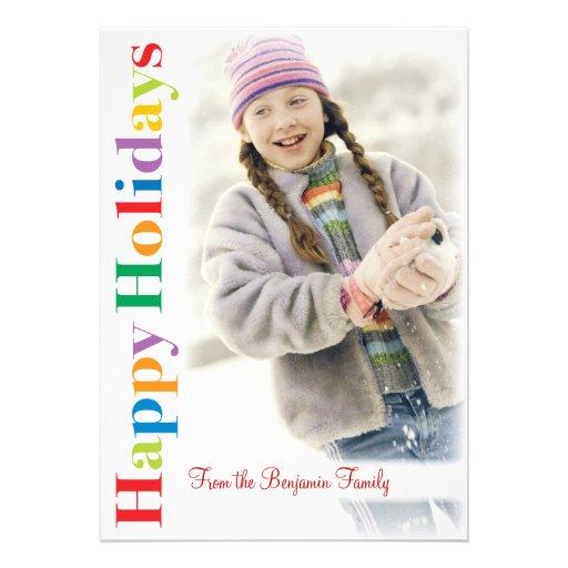 Moderne Schnee-Rahmen-Weihnachtsgruß-Foto-Karte Personalisierte Einladungskarte