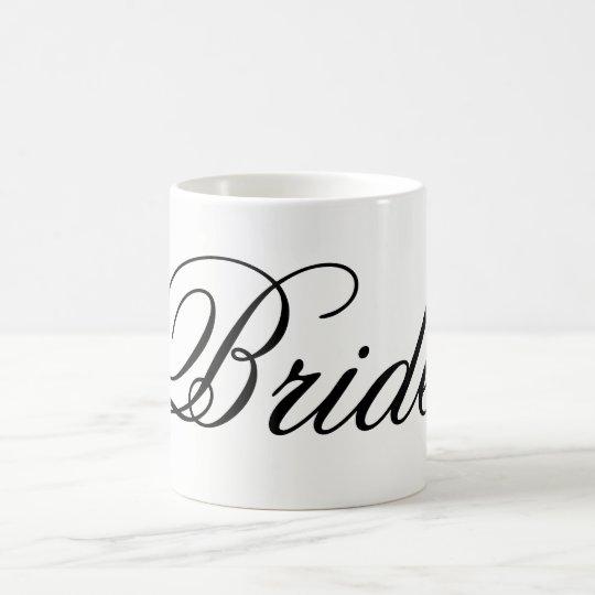 Moderne Skript Braut-Tasse Tasse