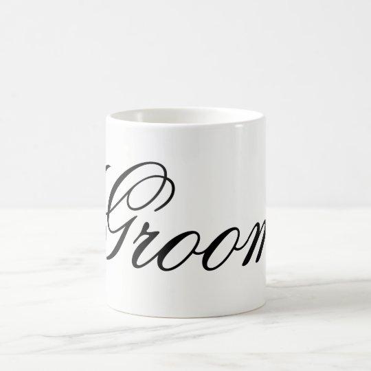 Moderne Skript Bräutigam-Tasse Kaffeetasse