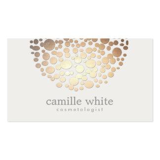 Moderne stilvolle Cosmetology-Imitat-Goldkreise Visitenkarten