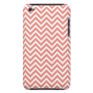 moderne Trendkoralle Zickzack Barely There iPod Case