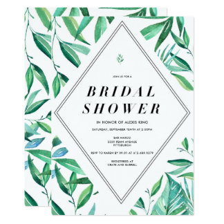 Moderne tropische Brautparty-Einladung 12,7 X 17,8 Cm Einladungskarte