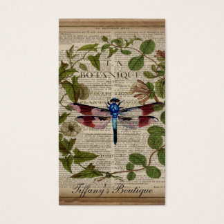 moderne Vintage Libelle des französischen Visitenkarte
