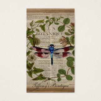 moderne Vintage Libelle des französischen Visitenkarten
