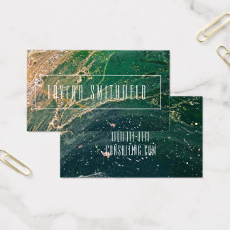 moderne Visitenkarte des Marmorspritzen-Aquarells