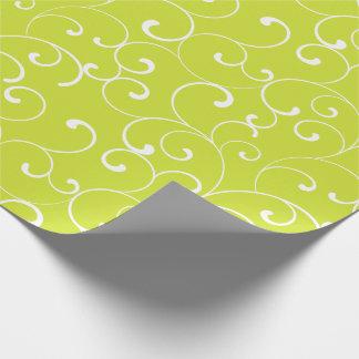 Moderne wunderliche Locken-Limones Grün Geschenkpapier