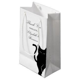 Moderne wunderliche schwarze Katzen-Hochzeit Kleine Geschenktüte
