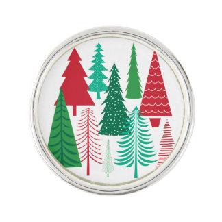 moderne zeitgenössische Weihnachtsbäume Anstecknadel