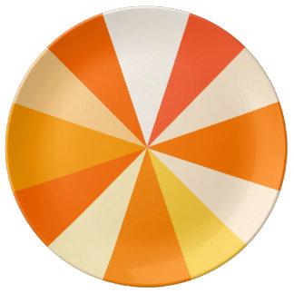 Moderner 60er der Pop-Kunst Funky geometrische Teller