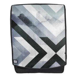 Moderner beunruhigter Schmutz-geometrischer grauer Rucksack