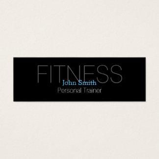 Moderner eleganter persönlicher Fitness-Trainer Mini Visitenkarte