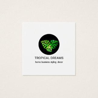 Moderner eleganter Sommer-tropisches Aquarell mit Quadratische Visitenkarte