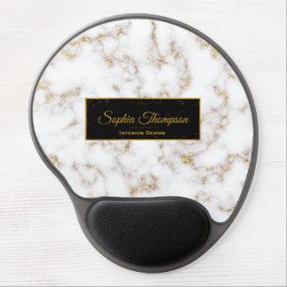 Moderner eleganter weißes Goldmarmor - Gel Gel Mousepad