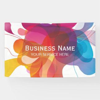 Moderner Farbfluss-modisches Geschäft Banner