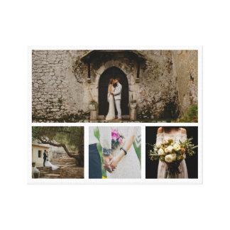 Moderner Foto-Minimalist der Hochzeits-Paar-vier Leinwanddruck