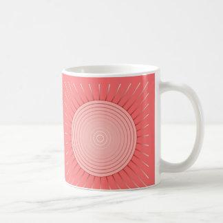 Moderner geometrischer Sonnendurchbruch - tiefes Kaffeetasse