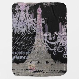 moderner girly Vintager Turm Leuchterparis Eiffel Babydecken