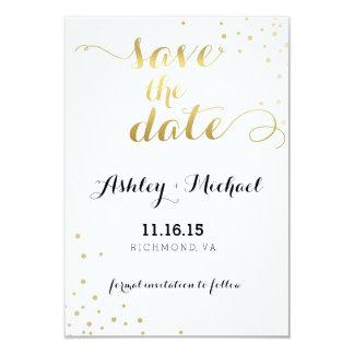Moderner Imitat-Goldfolien-Glamour Save the Date Karte