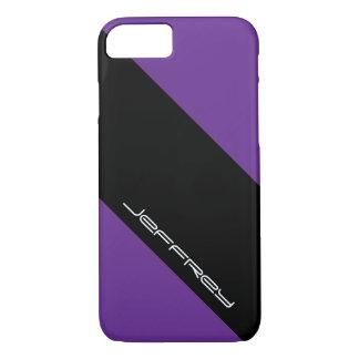 Moderner iPhone 7 Fall, lila u. schwarz, ein iPhone 8/7 Hülle