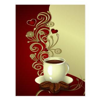 Moderner Kaffee-Liebhaber Postkarten