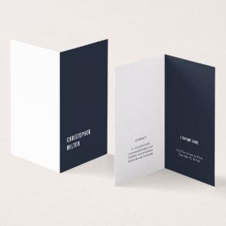 Moderner minimaler blauer weißer Berater Karte