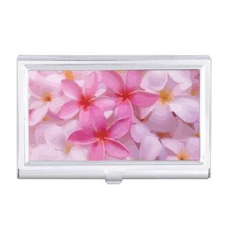 Moderner Plumeria - abstrakte rosa Blumen Visitenkarten-Dose