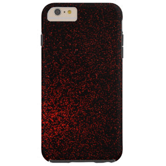 Moderner roter schwarzer Glitzer Girly Tough iPhone 6 Plus Hülle