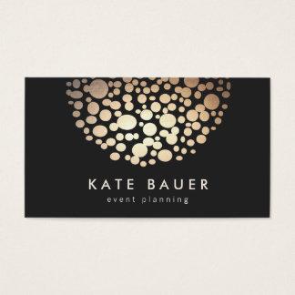 Moderner Schwarz-und GoldEvent-Planer Visitenkarten