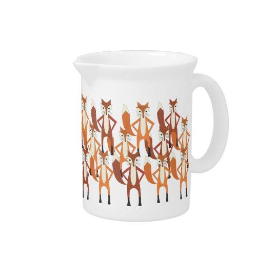 Moderner Trendy niedlicher Fox-Muster-Krug Krug