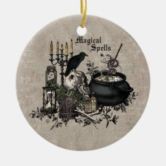 Moderner Vintager Halloween-HEXENBREW Keramik Ornament