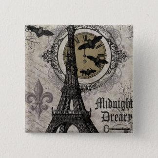 moderner Vintager Turm Franzosehalloweens Eiffel Quadratischer Button 5,1 Cm