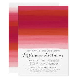 Moderner Watercolor-abstraktes Brautparty 12,7 X 17,8 Cm Einladungskarte