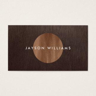 Moderner Woodgrain-Kreis-Innenarchitekt Visitenkarte