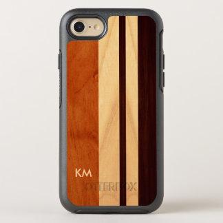Moderner Woodgrain Stripes das mit Monogramm OtterBox Symmetry iPhone 7 Hülle