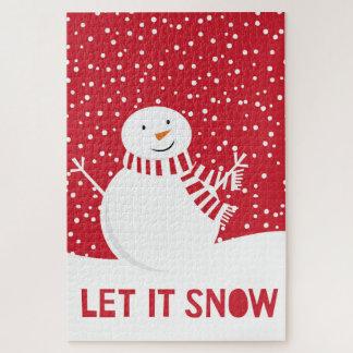 moderner zeitgenössischer Winter-Schneemann Puzzle