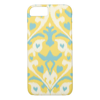 Modernes aquamarines gelbes girly ikat Stammes- iPhone 8/7 Hülle