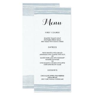 Modernes Aquarell-Hochzeits-Menü Karte