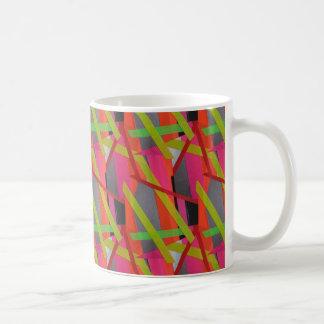 Modernes Band-Kunst-Neon Tasse