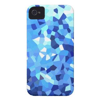 Modernes blaues und weißes Buntglas-Mosaik Case-Mate iPhone 4 Hülle
