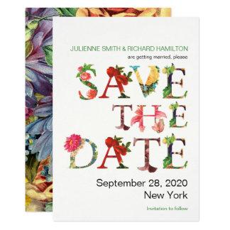 Modernes Blumen der Erinnerung   Save the Date 12,7 X 17,8 Cm Einladungskarte