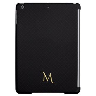 Modernes Checkered Muster-Monogramm-iPad Air ケース