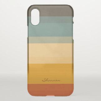 Modernes Chic Stripes klaren iPhone Kasten iPhone X Hülle
