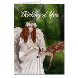 Modernes Denken an Sie Karte mit Engel