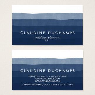 Modernes elegantes ombre Aquarell des Marineblaus Visitenkarte