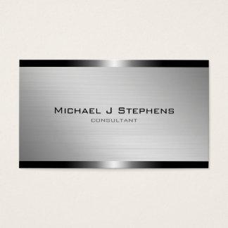 Modernes gebürstetes Aluminium Visitenkarten