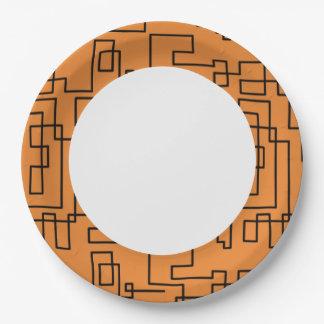 Modernes geometrisches Muster Pappteller