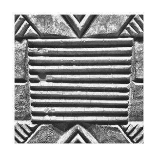 Modernes geometrisches schwarzes u. weißes gespannte galeriedrucke