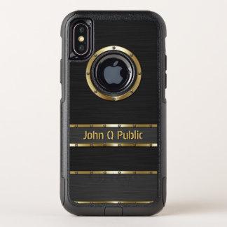 Modernes Gold und Schwarzes OtterBox Commuter iPhone X Hülle