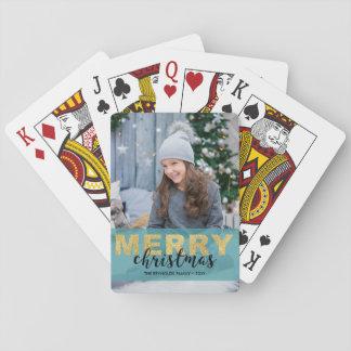 Modernes Goldblauer frohe Spielkarten