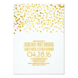 Modernes Goldfolieconfetti-Verlobungs-Party 12,7 X 17,8 Cm Einladungskarte